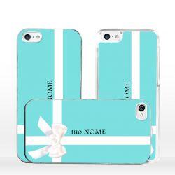 Cover con fiocco e nome personalizzato per iPhone