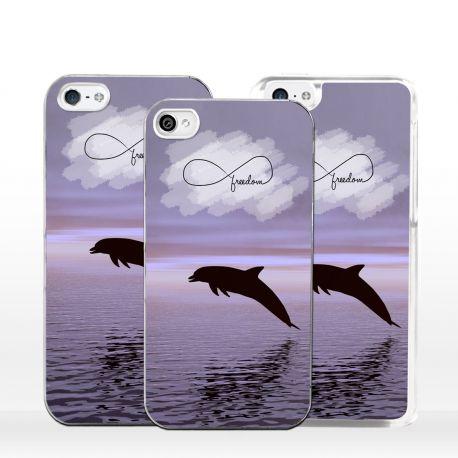 Cover per iPhone delfino simbolo infinito