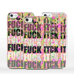 Cover per iPhone scritta multicolore Fuck It