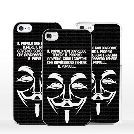 Cover per iPhone maschera Guy Fawkes Anonymous V Disobey