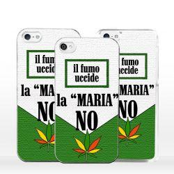 Cover per iPhone forma pacchetto sigarette e foglia marijuana