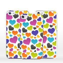 Cover per iPhone cuori colorati