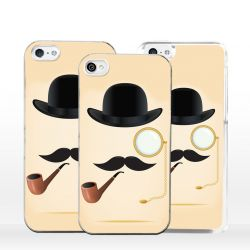 Cover per iPhone Baffi Hipster