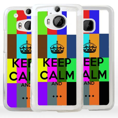 Cover Keep Calm personalizzata per HTC
