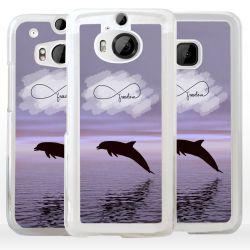 Cover con delfino e simbolo infinito