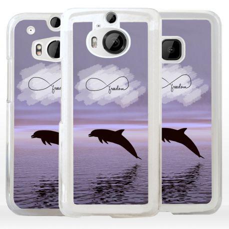 Cover con delfino e simbolo infinito per HTC
