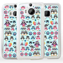 Cover con pinguini per HTC