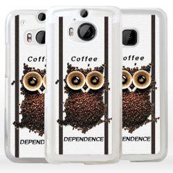 Cover per HTC gufo con chicchi di caffè