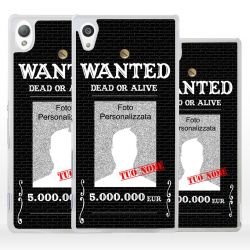 Cover personalizzata wanted ricercato per Sony Xperia