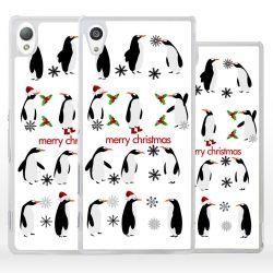 Cover con pinguini Natalizi per Sony Xperia