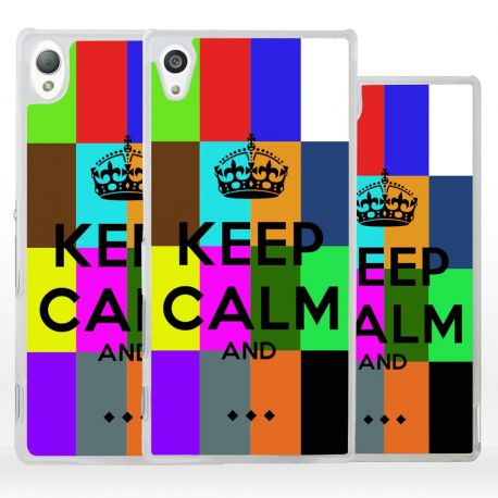 Cover Keep Calm personalizzata per Sony Xperia