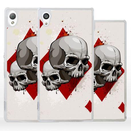 Cover teschio su carta da gioco per Sony Xperia