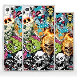 Cover sticker teschio per Sony Xperia