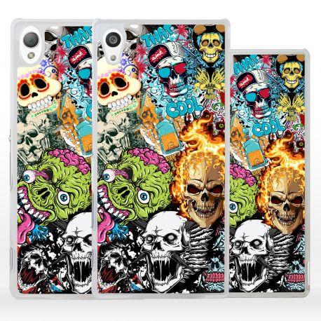 Cover sticker teschio per Sony Xperia