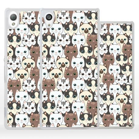 Cover collage gattini siamesi per Sony Xperia