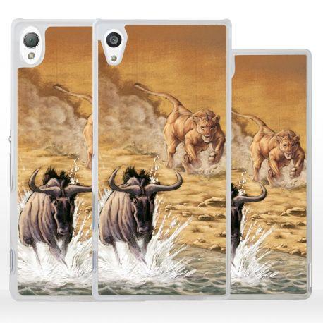 Cover quadro scena di caccia per Sony Xperia
