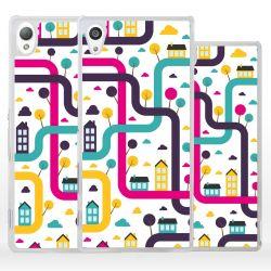 Cover città labirinto per Sony Xperia