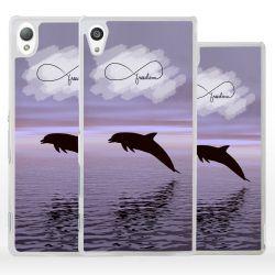 Cover delfino simbolo infinito per Sony Xperia