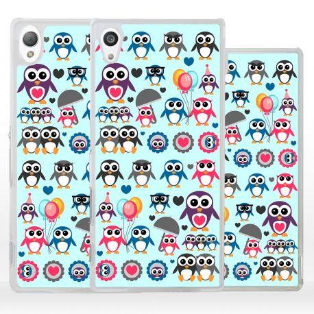 Cover con pinguini per Sony Xperia