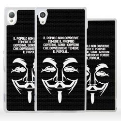 Cover maschera V Guy Fawkes Anonymous per Sony Xperia