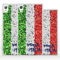 Cover con tricolore bandiera Italia per Sony Xperia