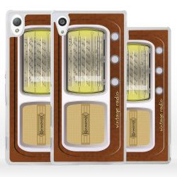 Cover modello radio d'epoca per Sony Xperia