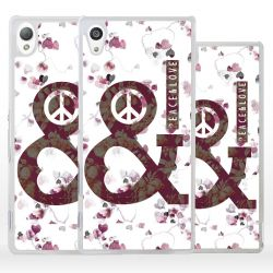 Cover Peace and Love per Sony Xperia