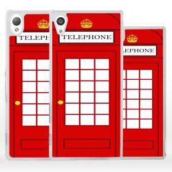 Cover per Sony Xperia cabina telefonica inglese