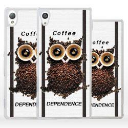 Cover gufo chicchi caffè per Sony Xperia