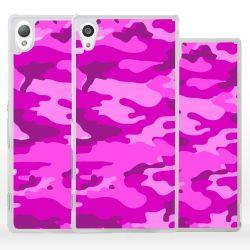 Cover per Sony Xperia mimetico rosa militare