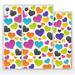 Cover per Sony Xperia cuori colorati