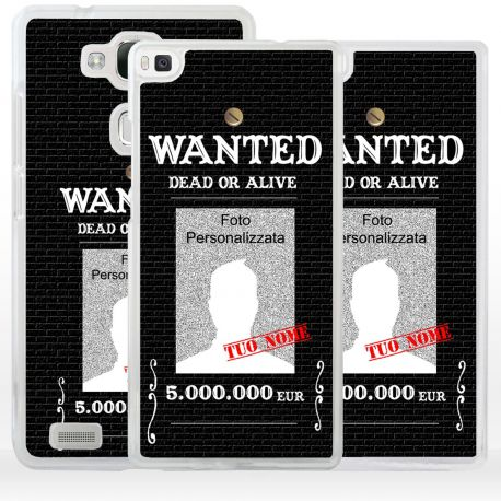 Cover wanted ricercato per smartphone Huawei