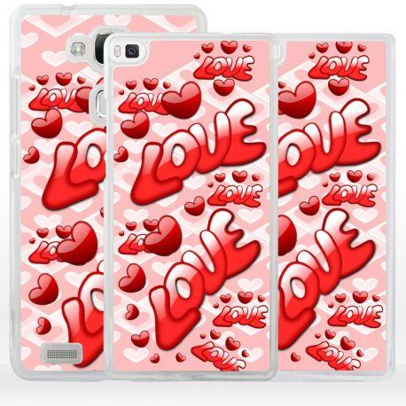 Cover con scritta love per Huawei