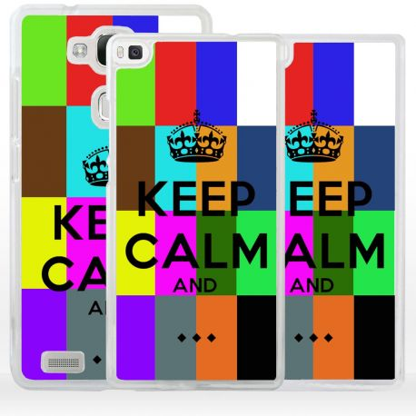 Cover Keep Calm personalizzata per Huawei