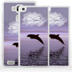 Cover delfino simbolo infinito per Huawei Honor