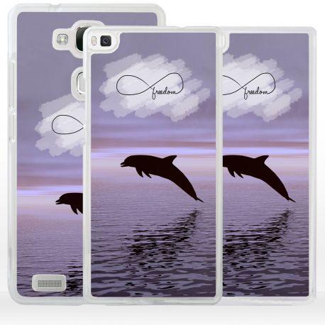 Cover delfino simbolo infinito per Huawei