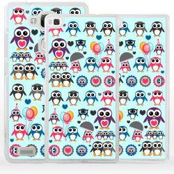Cover con pinguini per Huawei