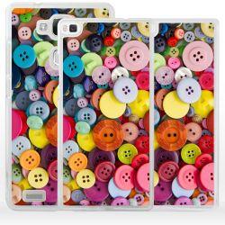 Cover bottoni taglio e cucito per Huawei