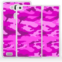 Cover per Huawei mimetico rosa militare