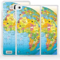 Cover per Huawei cartina geografica mappamondo