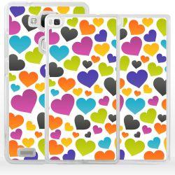 Cover per Huawei cuori colorati