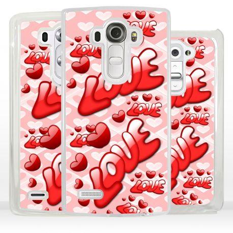 Cover Amore con scritte Love per LG