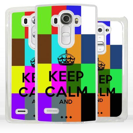 Cover Keep Calm personalizzata con nome per LG