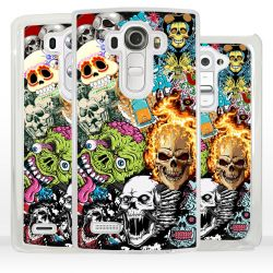 Cover sticker teschio per LG