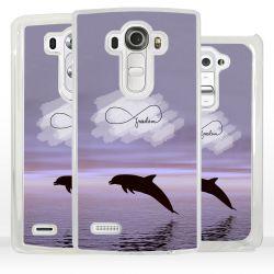 Cover delfino simbolo infinito per LG