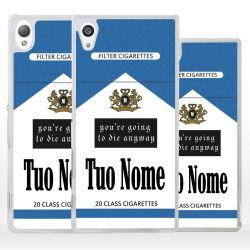 Custodia pacchetto sigarette con nome per Sony Xperia