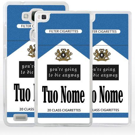 Cover pacchetto sigarette con nome per Huawei