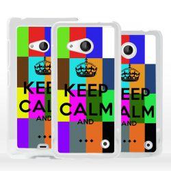 Cover Keep Calm personalizzata per Microsoft Nokia Lumia