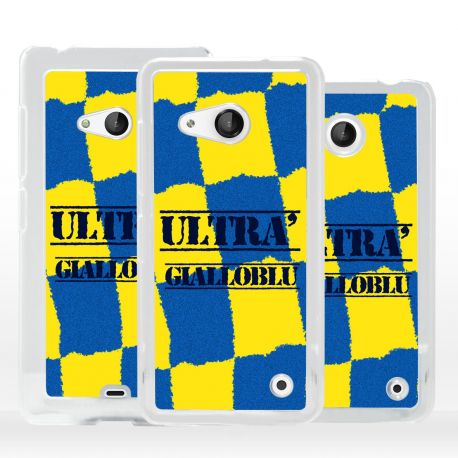 Cover ultras tifosi gialloblu per Microsoft Nokia Lumia