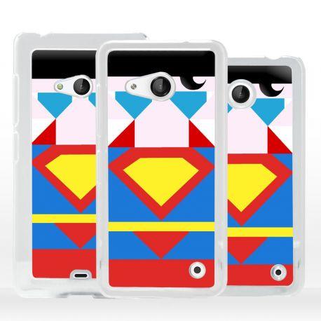 Cover Supereroe Acciaio per Microsoft Nokia Lumia